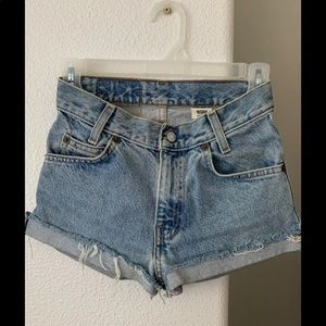 levi jean shorts xxs 22 23 super cute